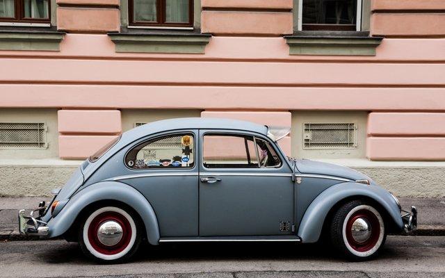 Ein VW-Käfer in Wien