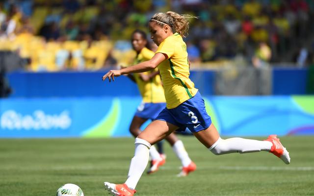 Brasilien hoffte bei den Olympischen Spielen 2016 in Rio auf Fußballgold. Doch die Frauen scheiterten im Halbfinale dramatisch an Schweden.