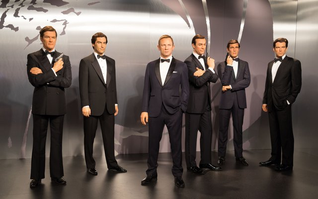 All six James Bonds can be seen in Madame Tussaud's Wax Museum in London.